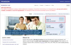 Certificación Java: Crear cuenta en PearsonVue